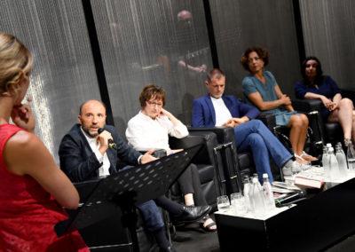 Mia Ceran con gli autori finalisti