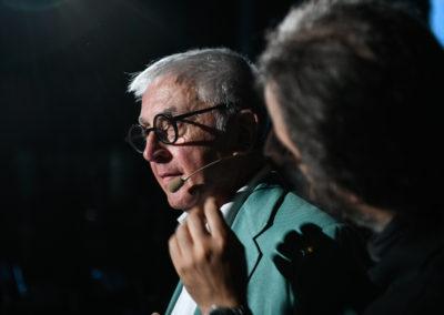 Il moderatore della serata, Giorgio Comaschi